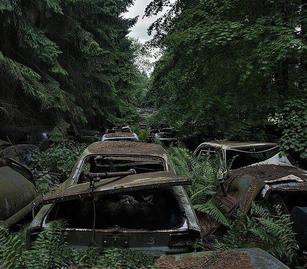 chatillon auto storiche abbandonate