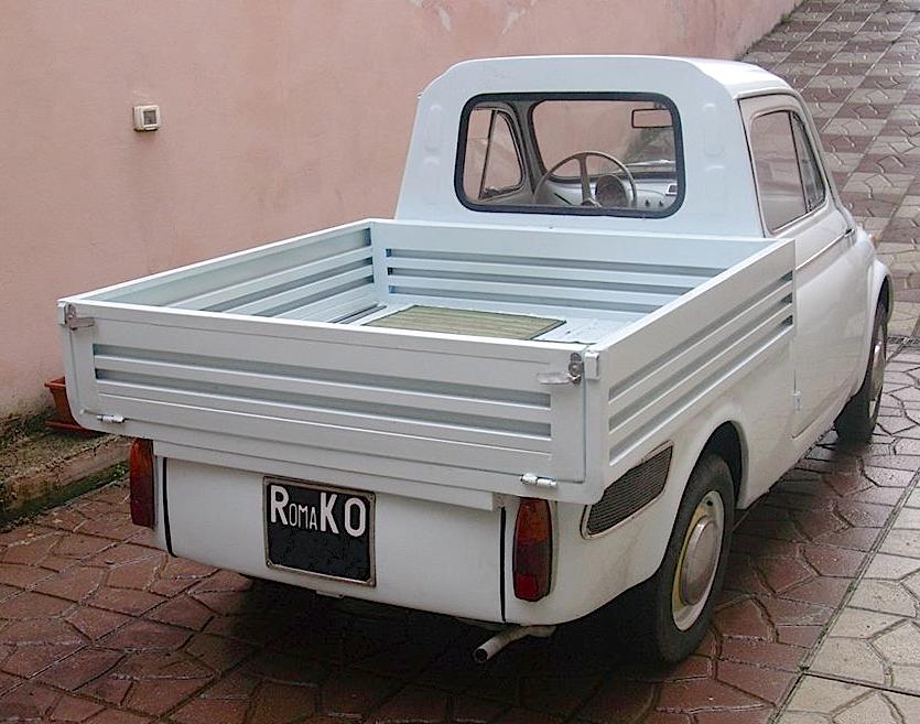 Fiat 500 Giardiniera Giannini Pick Up Auto Epoca 1964