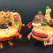 &nbsp;<center> FOOD FIGHTERS - Action Figure Mattel distribuiti da Burghy - (1988)