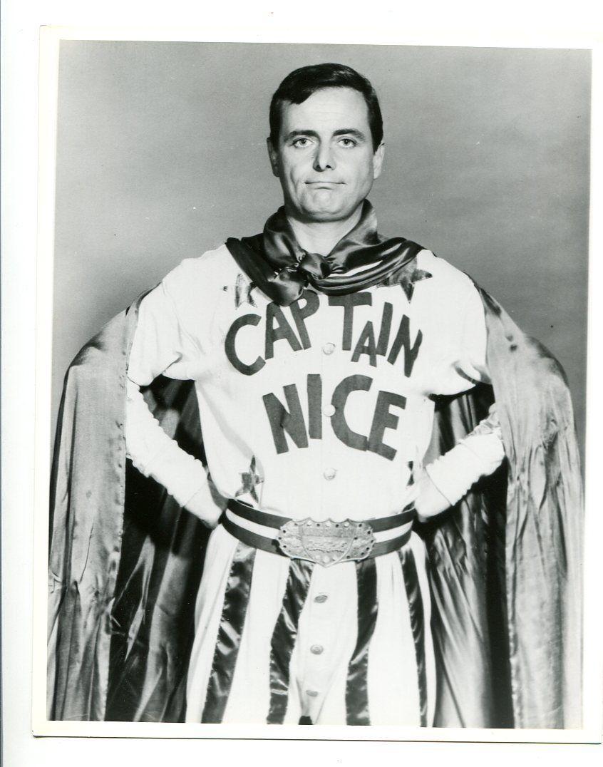 8x10-B_W-Still-Captain_Nice-William_Daniels-TV-NM