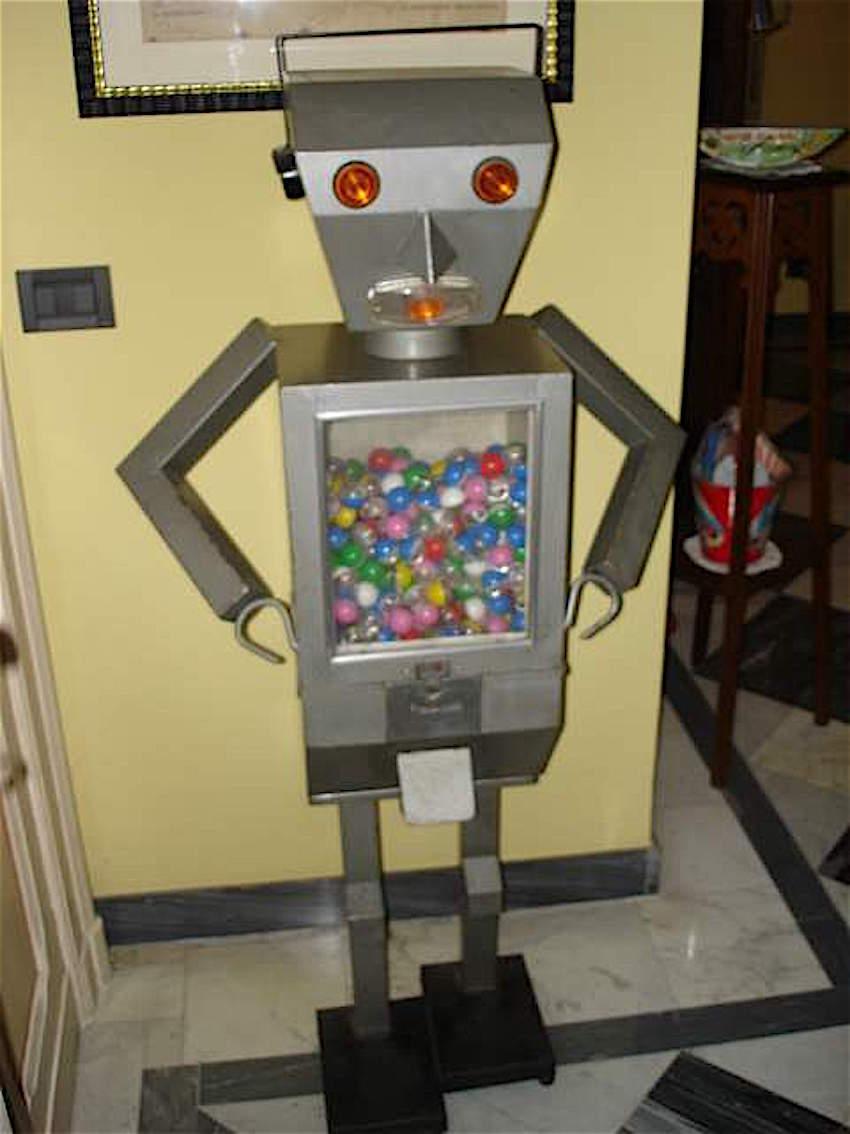 distributore robot chewingum palline vintage