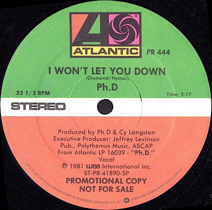 i wont let you down disco