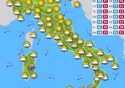 Previsioni del tempo e Oroscopo del giorno 24 SETTEMBRE