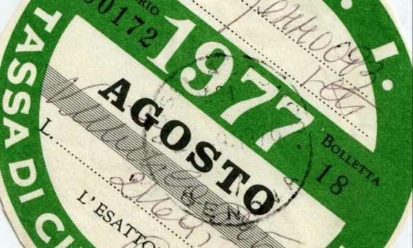 BOLLO AUTO / MOTO o TASSA DI CIRCOLAZIONE – (dal 1953)