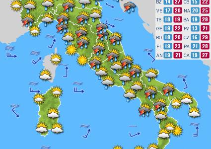 Previsioni del tempo e Oroscopo del giorno 12 GIUGNO