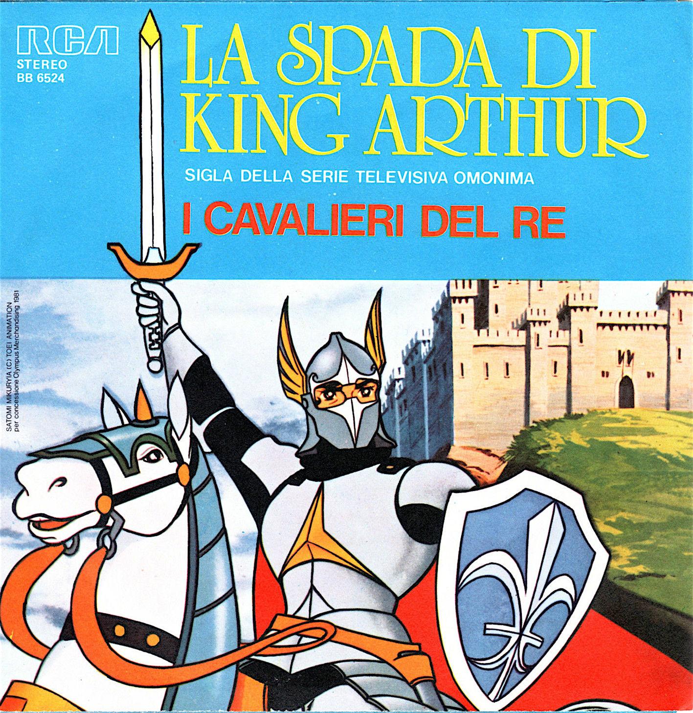 La spada di king arthur anime molto amato primi