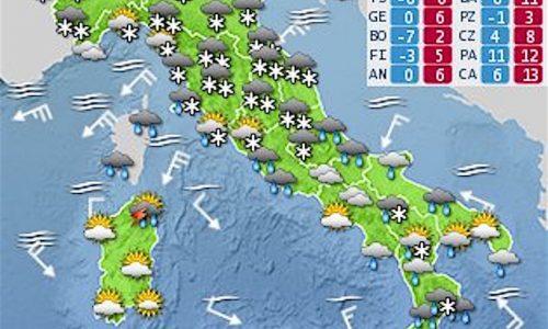 Ecco il BURIAN il vento gelido dalla Siberia – Le Previsioni per i prossimi giorni